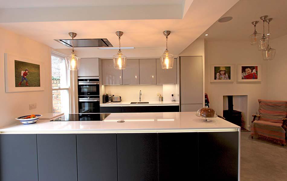 Schuller NX901 kitchen in Crystal & Quartz Grey in Liverpool