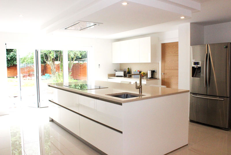 White gloss Schuller German kitchen for our customer in Liverpool