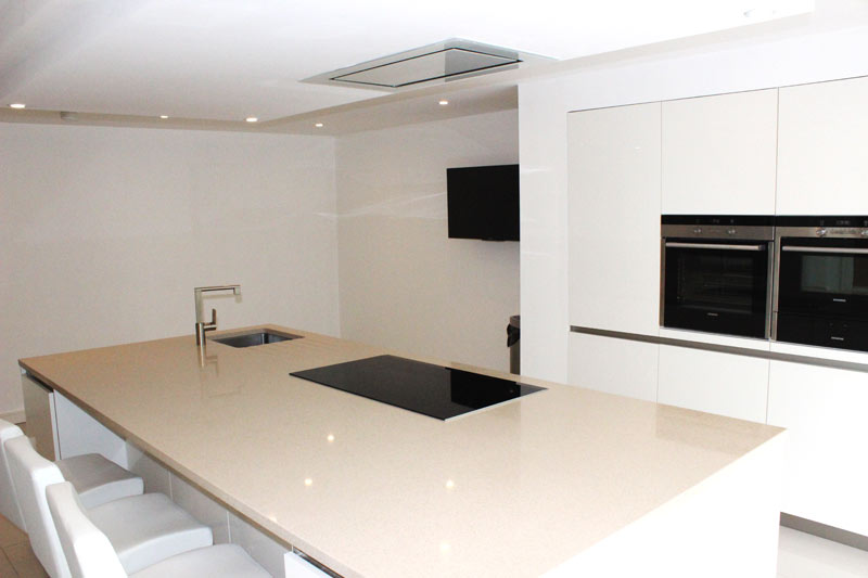 Schuller White Gloss German Kitchen for a customer in Liverpool - 4