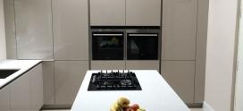 Schuller Fino Sand Grey High Gloss German Kitchen