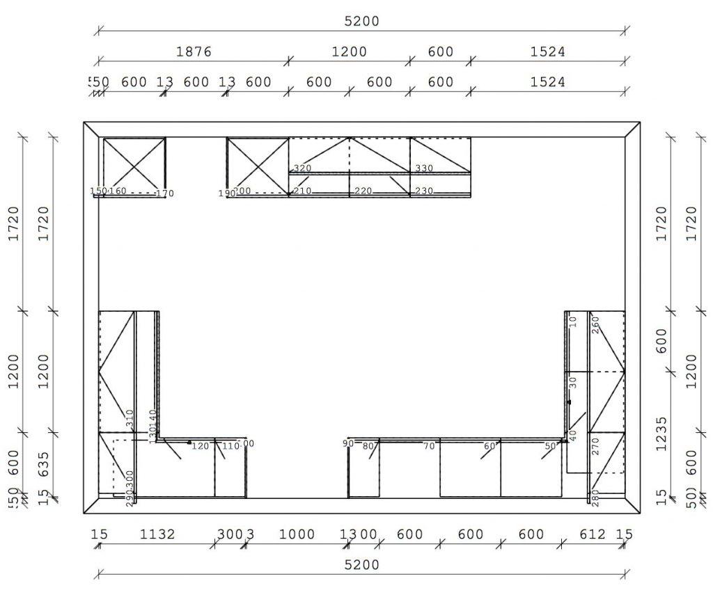NX902 Polar White Satin Next 125 Designer Kitchen Eccleston - plan