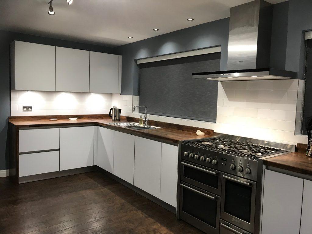 NX902 Polar White Satin Next 125 Glassline Designer Kitchen