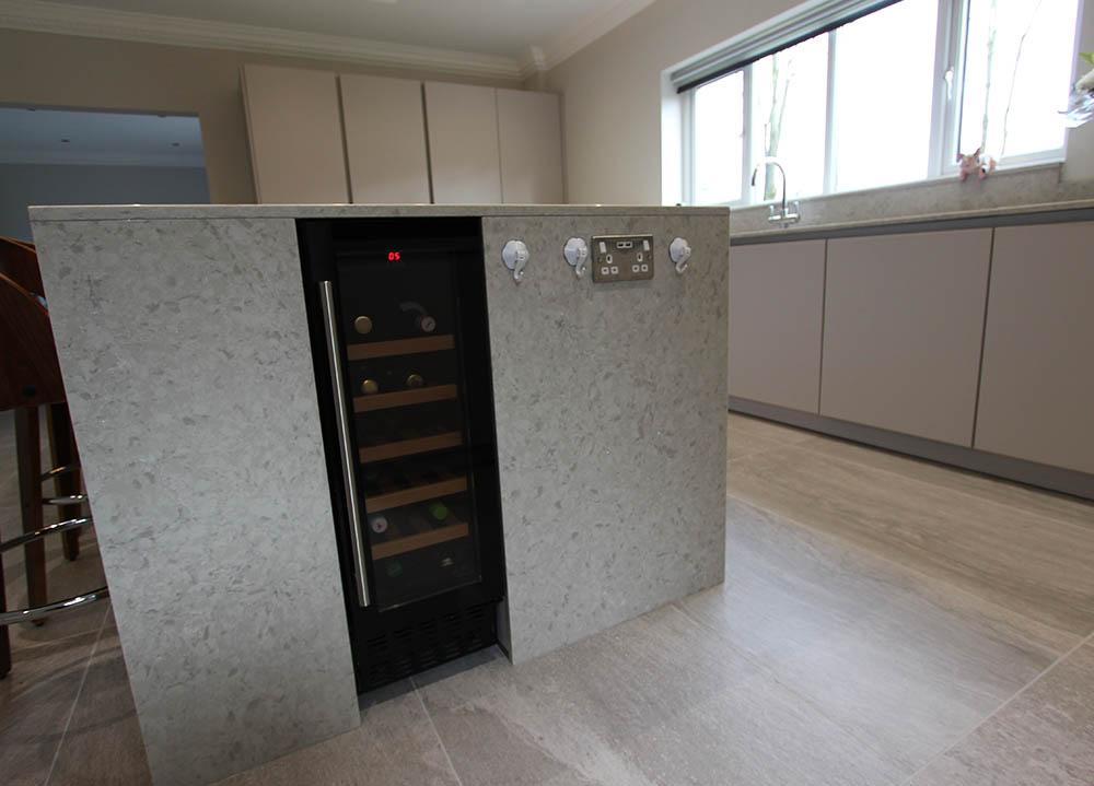 Schuller German Kitchen island and wine cooler