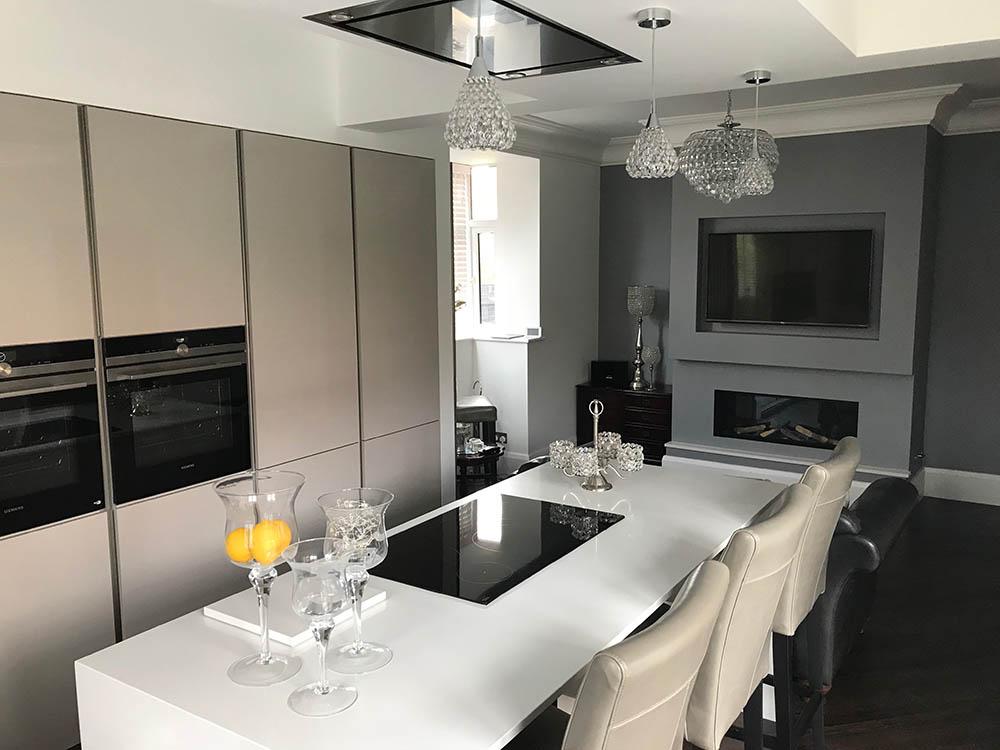 Schuller Uni Sand Grey Gloss German Kitchen in Lytham St ...