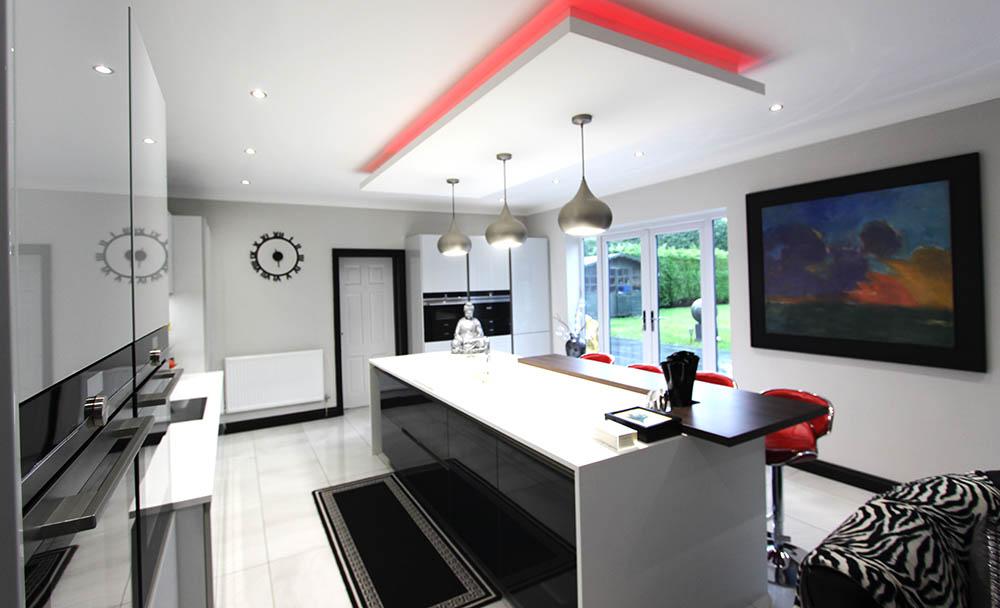 Schüller Next 125 White Glassline Kitchen in Warrington