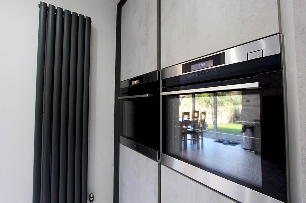 AEG ovens with Schuller Elba Concrete