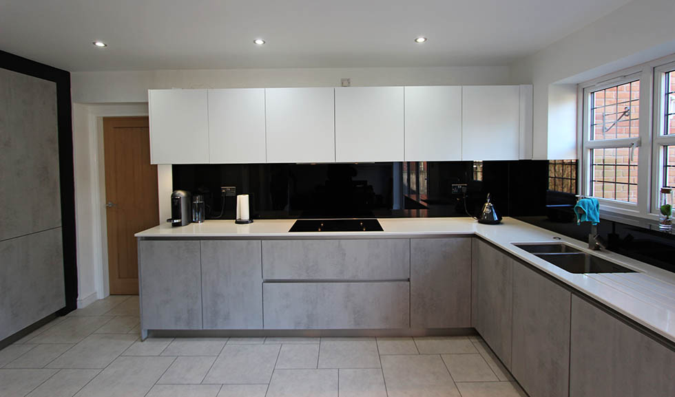 Schuller Elba Concrete customer kitchen in Eccleston