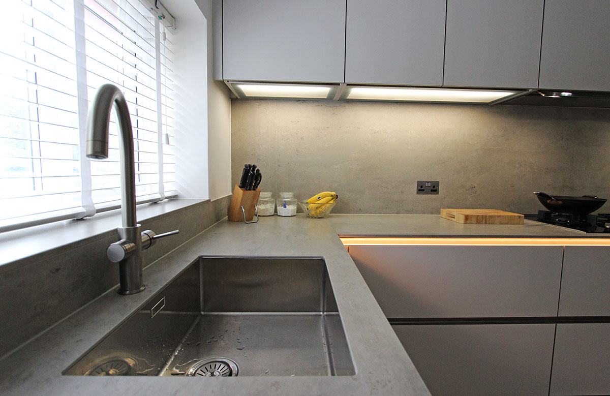 Sink and Hot Water Tap