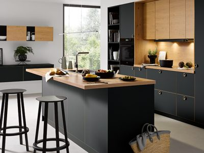 Schuller Strato Onyx Black Matt german made kitchen