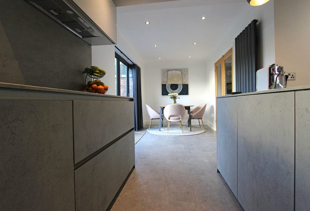 Next 125 Glassline Concrete Ceramic Kitchen