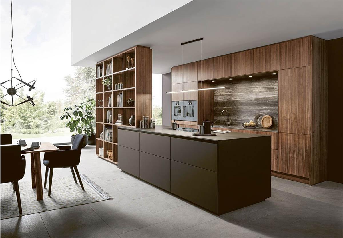Next125 NX870 kitchen style Fenix Mocha Brown fine Matt
