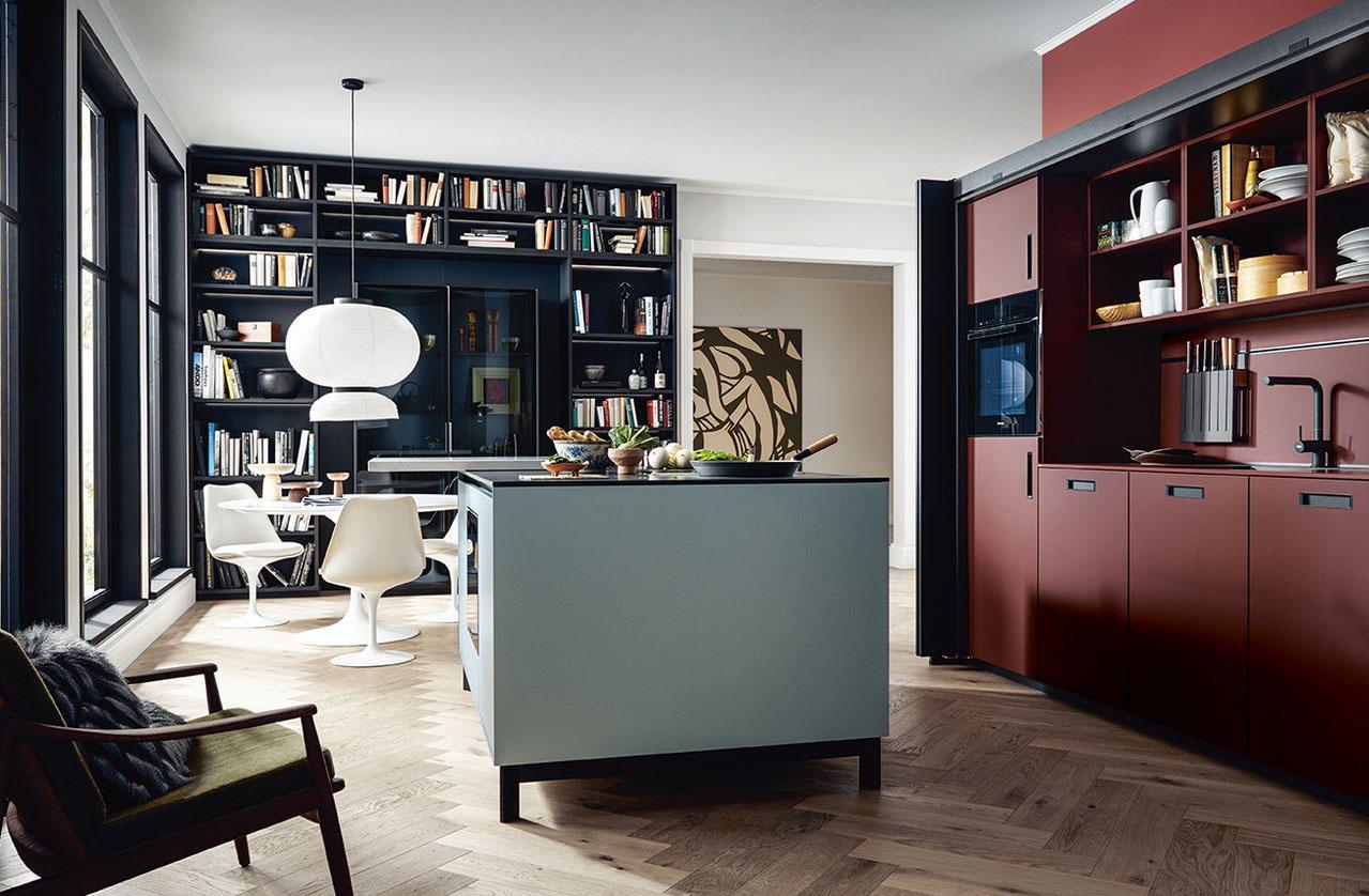Next125 kitchens NX 510 in Black & Red mix