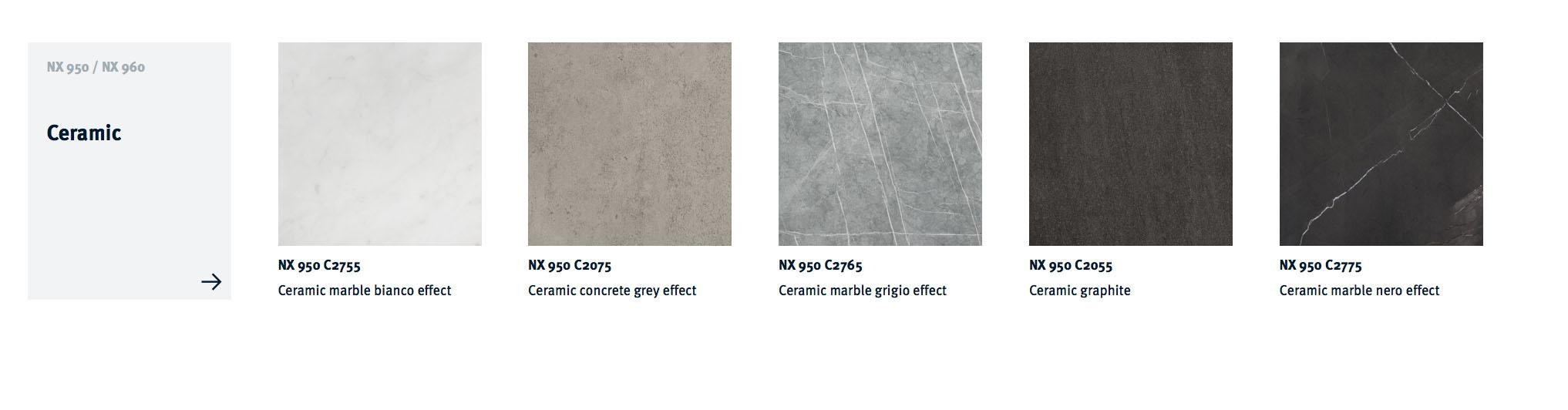 Next125 NX 950 Ceramic Colour Choices