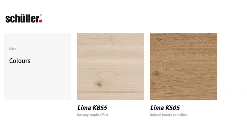 Schuller kitchens Lima Door Colour Choices
