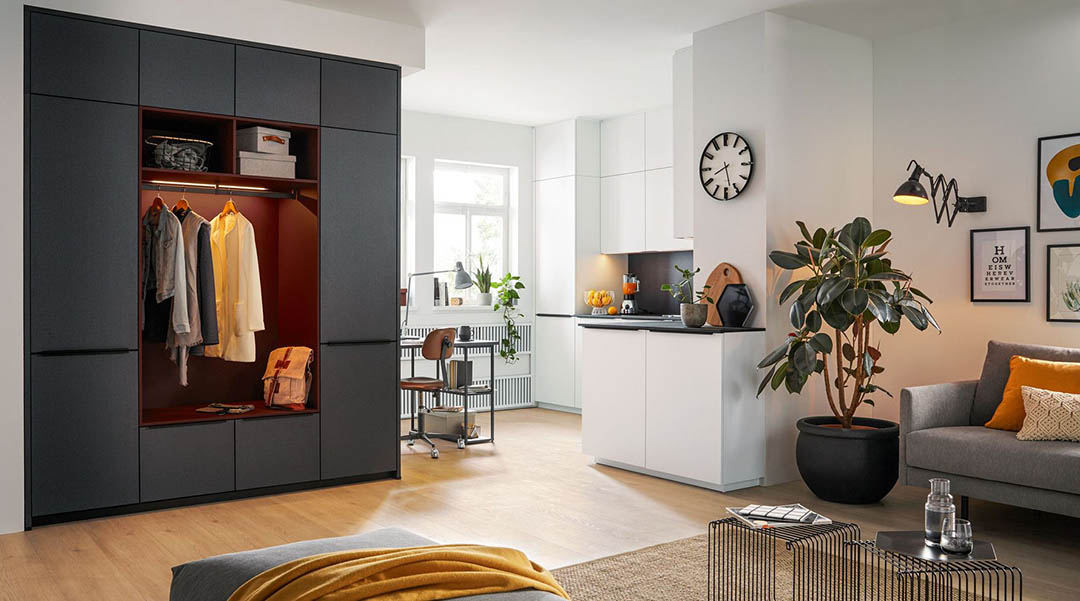 Studio Living in the City by Schuller