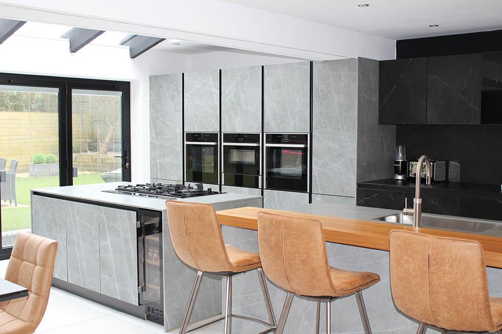Next 125 Designer kitchen project using Sytemo Ceramic