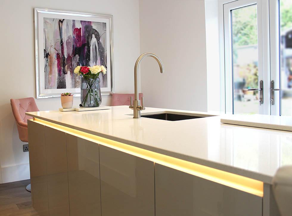 Schuller Crystal Grey  Kitchen installation  Cheshire