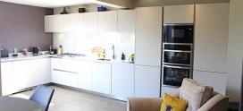 Schuller Matt Sand Grey   Kitchen installation Cheshire
