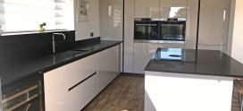 SchullerFino German kitchen installation in Sand Grey